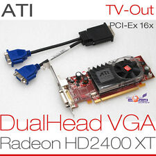 256 MB ATI RADEON  HD2400 PCIe DUAL HEAD 2x VGA GRAFIKKARTE ALL WINDOWS 7 8 -G13