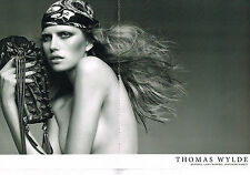 PUBLICITE ADVERTISING   2009   THOMAS WYLDE  haute couture ( 2 pages)