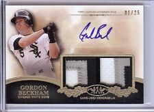 2012 TOPPS TIER ONE GORDON BECKHAM AUTO DUAL JERSEY PATCH 01/25!!