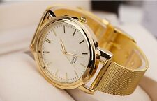 Men Women Valentine's Gift Bracelet Watch Fashion Gold Designer Style Crystal uk