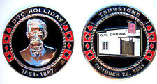Doc Holliday OK O.K. Corral Heavy Poker Card Guard Hand Protector Metal Coin NEW