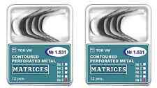 Lot x 2 Metal Contoured Perforated Matrices shape 5 (large) TOR VM
