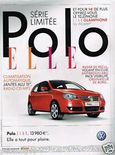 Publicité advertising 2007 VW Volkswagen Polo Elle
