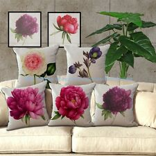 wholesale 5pcs flower peony cushion cover decorative pillow case covers