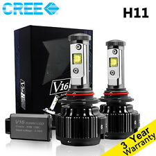 Cree LED Headlight Kit H8 H9 H11 60W 6000K Cool White 7200LM Bulbs  HID Pair