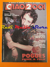 rivista CIAO 2001 38/1989 POSTER Vasco Piero Pelu' Pogues Peter Gabriel * No cd