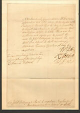 RARE 1782 SIGNED WARRANT LETTER by WILLIAM PITT (younger) PRIME MINISTER ENGLAND