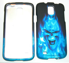 Hard Case Snap-on Phone Cover for Samsung Galaxy S4 Active i537 ATT - Blue Skull
