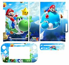 Skin Sticker Cover for Nintendo Wii U Console &Controller 219 Super Mario Galaxy