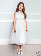 BNWT Age 9 Grace BHS IVORY PEARL BEAD Satin Bow Bridesmaid Flower Girl Dress £65