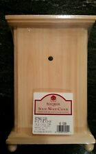 NEW SOLID WOOD RECTANGLE CLOCK UNFINISHED FURNITURE GRADE PINE