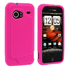 Hot Pink Silicone Rubber Skin Case Cover for HTC Droid Incredible 6300
