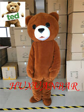 Hot 2017 new Teddy bear Mascot Costume Fancy Dress Adult Size Free Shipping GIft