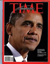 TIME MAGAZINE COMMEMORATIVE ISSUE, PRESIDENT-ELECT OBAMA, NO LABEL: 11/17/2008