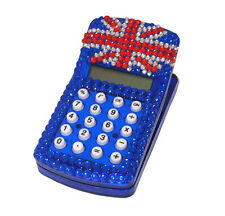 British UK Union Jack Flag Crystal Effect Bling Clip Calculator Magnet