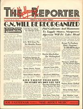 JAN 14 1938 THE HOLLYWOOD REPORTER vintage movie magazine IN OLD CHICAGO