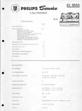 PHILIPS SERVICE MANUAL per el 3553
