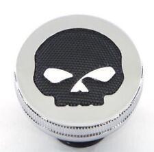 HARLEY DAVIDSON Willie G Skull Fuel Gas Cap FXST FLST Dyna XL Round Mesh Vtwin C