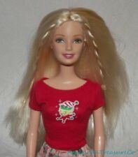 2004 Barbie Blonde CHRISTMAS MORNING Holiday Doll w/Green Eyes & Happy Elf PJs