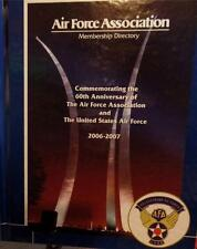 RARE 2006-2007 THE AIR FORCE ASSOCIATION DIRECTORY of RETIRED MEMBERS  EXCELLENT