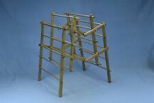 Antique SALESMAN SAMPLE WOODEN CLOTHES DRYING RACK LAUNDRY COLLAPSIBLE #03398
