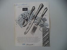advertising Pubblicità 1953 LUNT SILVERSMITHS