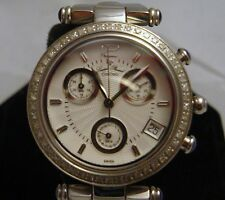 Ladies Lucien Piccard diamond Chrono Watch Sapphire Crystal Water Resistant