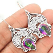 Rainbow Topaz 925 Sterling Silver Earrings Jewelry SE89009