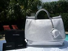"""DOLCE AND GABBANA """"MISS SICILY SOFT""""DEER SKIN SOFT TOTE-$2,345-SOLD OUT-RARE-NWT"""