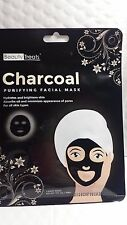 CHARCOAL PURIFYING FACIAL MASK BEAUTY TREATS 1 SHEET MASK NET WT 1 FL OZ 10/22