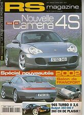 RS MAGAZINE 5 PORSCHE 996 CARRERA 4S 964 TURBO 2 3.6 964 RS92 RS 3.6 356 1952