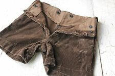 Shorts c 1920 Antique French child's boy's children's cords corduroy