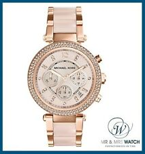 Brand New Ladies Michael Kors Rose Gold & Blush Parker Watch-MK5896-RRP £279