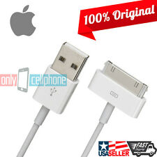 NEW Authentic Original Apple iPhone 4S 4 3GS 30-Pin USB Data Sync Charger Cable