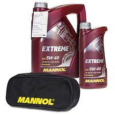 6 (5+1) Liter MANNOL SAE 5W-40 Extreme HC-Synthese-Öl + gratis Tragetasche