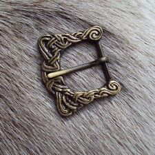 Antiqued Brass Viking Buckle Perfect For Stage And Costume, Re-enactment Or LARP