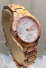 Sandali Donna Guess Rose Gold plated Bracelet Watch Multi Dial (p95)