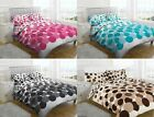 New SINGLE DOUBLE KING Set Bubble Design Duvet Cover Chocolate Teal Pink Black