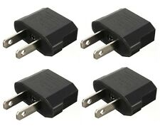 4x EU Europe to US Canada AC POWER PLUG TRAVEL ADAPTER CONVERTER