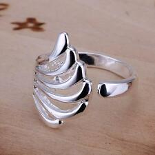 Fashion 925 Sterling Silver Personality Empty Wings Ring for Couple Lover Gift