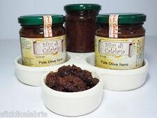 Patè Crema di Olive Nere Calabresi in olio 190gr Ottimo su Bruschette