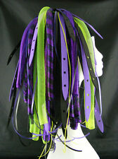 CYBERLOXSHOP PURPLEWEB YELLOW CYBERLOX CYBER HAIR FALLS DREADS RAVE PURPLE BLACK