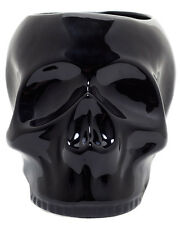 Sourpuss Gothic Goth Occult Black Ceramic Skull Planter Pot Plant Herbs Flowers