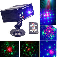 Remote 48 Pattern RGB Laser Stage Lighting Scanner DJ Projector Party Show Light