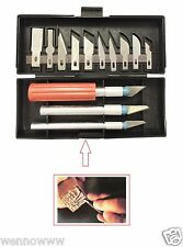 13 Piece Exacto Knife Kit / Set For Hobby , Scrapbooking , Crafts , and Shop