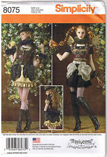 Steampunk Gothic Mini Dress Bustle Ruffles Costume Sewing Pattern 14 16 18 20 22