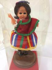 "Portugal Madeira Vintage Doll Souvenir International Costume 6"" Stand Sealed New"