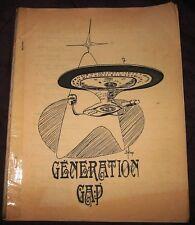 """Star Trek TOS Fanzine """"Generation Gap 1"""" Gen Vintage"""