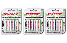 3 Cards: 12 Centura AA LSD NiMH Rechargeable Batteries