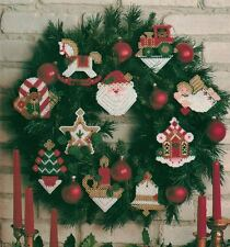 HOLIDAY SPARKLE CHRISTMAS ORNAMENTS PLASTIC CANVAS PATTERN INSTRUCTIONS